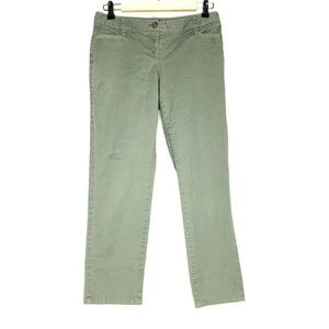 White House Black Market Green Cropped Leg Tapered